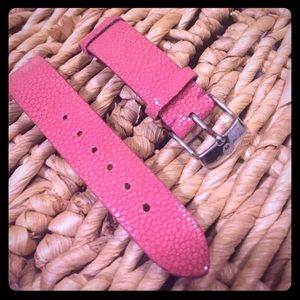 Authentic Michele Leather Watch Band 18mm